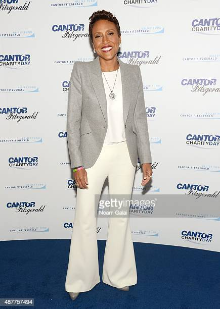 Broadcaster Robin Roberts attends the annual Charity Day hosted by Cantor Fitzgerald and BGC at Cantor Fitzgerald on September 11 2015 in New York...