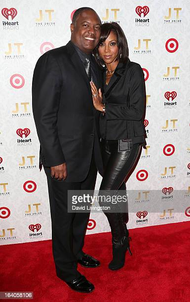 Broadcaster Rodney Peete and wife actress Holly Robinson Peete attend the iHeartRadio 20/20 album release party with Justin Timberlake presented by...