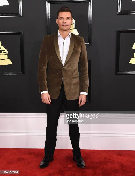 Broadcaster Ryan Seacrest attends The 59th GRAMMY Awards at STAPLES Center on February 12 2017 in Los Angeles California