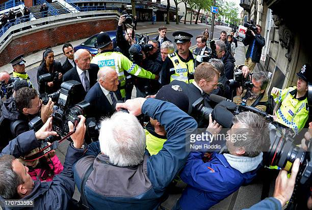Broadcaster Stuart Hall arrives at Preston Crown Court for sentencing on June 17 2013 in Preston England The 83yearold former television and radio...