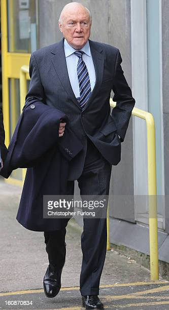 Broadcaster Stuart Hall leaves Preston Magistrates Court on February 7 2013 in Preston Lancashire The 83yearold television and radio presenter is...