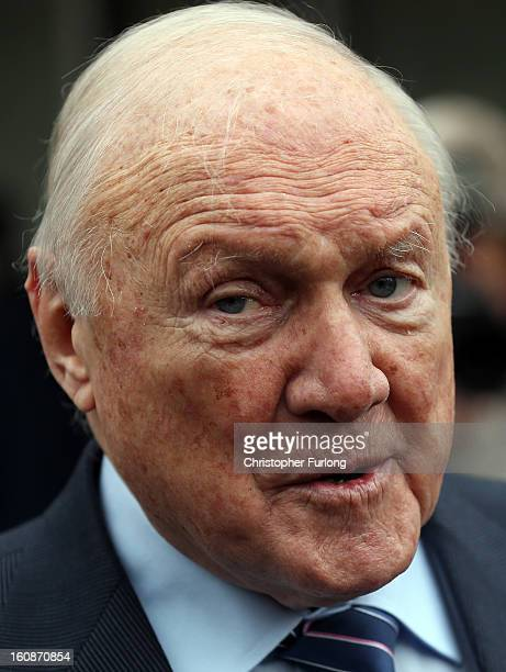 Broadcaster Stuart Hall speaks to the media outside Preston Magistrates Court on February 7 2013 in Preston Lancashire The 83yearold television and...