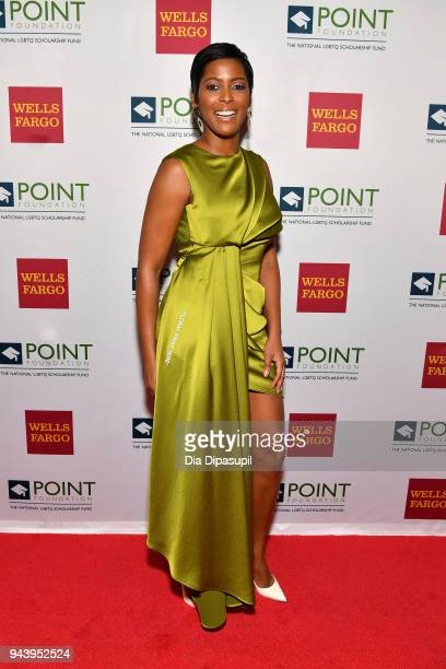 Broadcaster Tamron Hall attends as Point Foundation hosts Annual Point Honors New York Gala Celebrating The Accomplishments Of LGBTQ Students at The...