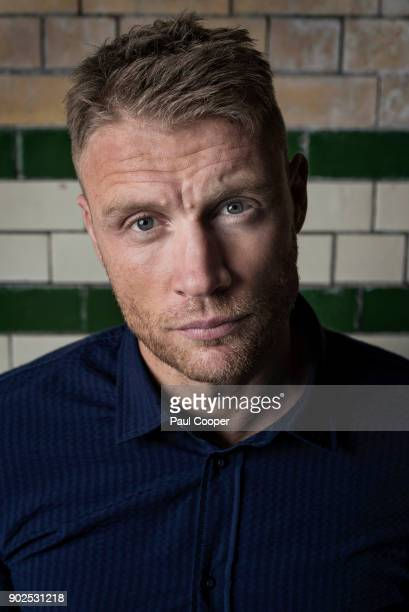 Broadcaster, TV panelist and former England International cricketer, Andrew Flintoff is photographed for the Telegraph on November 8, 2016 in London,...
