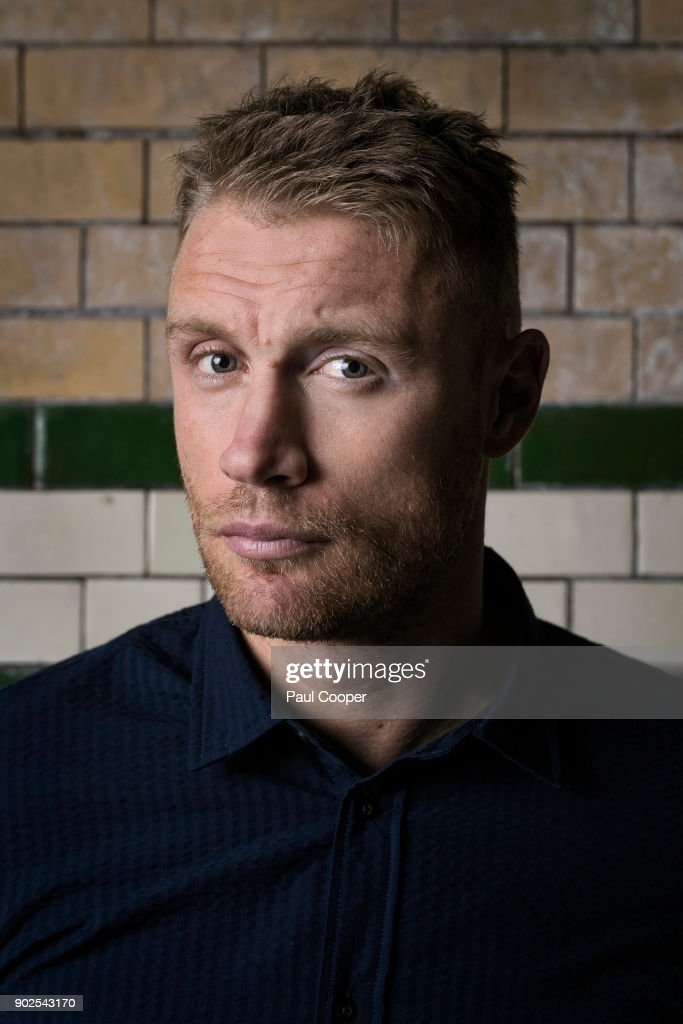 Broadcaster, TV panelist and former England International cricketer, Andrew Flintoff is photographed for the Telegraph on November 8, 2016 in London, England.