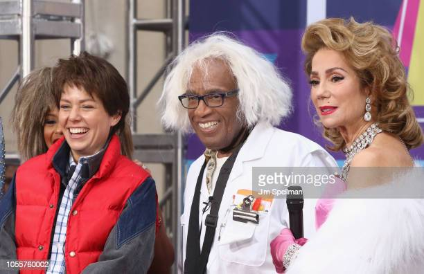 Broadcasters Dylan Dreyer Al Roker and Kathie Lee Gifford attend the NBC Today Halloween 2018 at Rockefeller Plaza on October 31 2018 in New York City