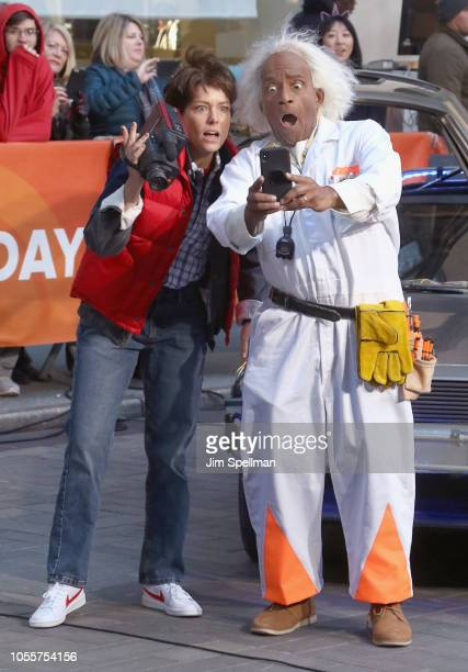 Broadcasters Dylan Dreyer and Al Roker attend the NBC Today Halloween 2018 at Rockefeller Plaza on October 31 2018 in New York City