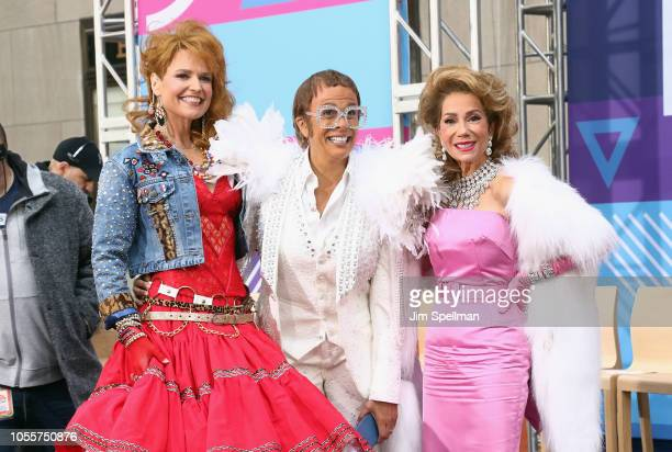Broadcasters Savannah Guthrie Hoda Kotb and Kathie Lee Gifford attend the NBC Today Halloween 2018 at Rockefeller Plaza on October 31 2018 in New...