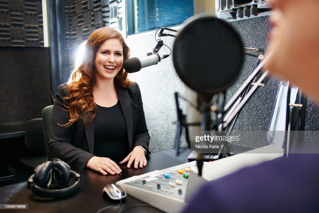Broadcasting by the best in the business : Stock Photo