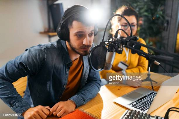 broadcasting can start - radio broadcasting stock pictures, royalty-free photos & images