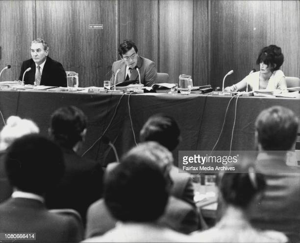 Broadcasting tribunal meeting about renewal of Channel 9's licenceAt 10th floor 153 Walker St Nth Sydney March 17 1982