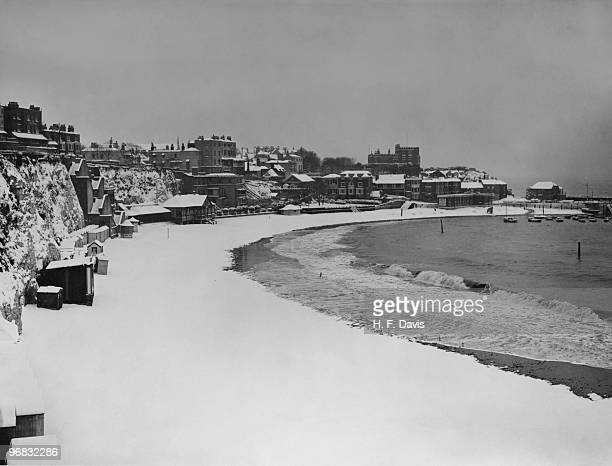 Broadstairs Bay in Kent after a blizzard 16th February 1929