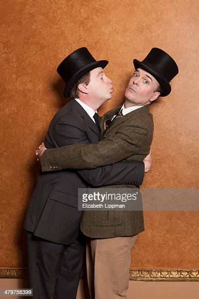 Broadway actors Jefferson Mays and Don Stephenson are photographed for Wall Street Journal on February 26 2014 in New York City PUBLISHED IMAGE