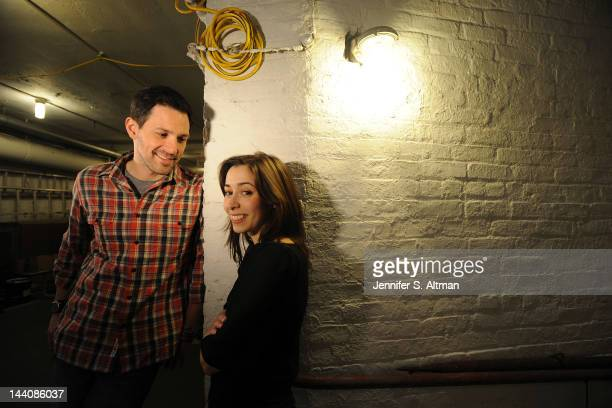 Broadway actors Steve Kazee and Cristin Milioti are photographed for Los Angeles Times on March 9 2012 in New York City PUBLISHED IMAGE