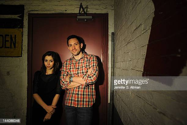 Broadway actors Steve Kazee and Cristin Milioti are photographed for Los Angeles Times on March 9 2012 in New York City