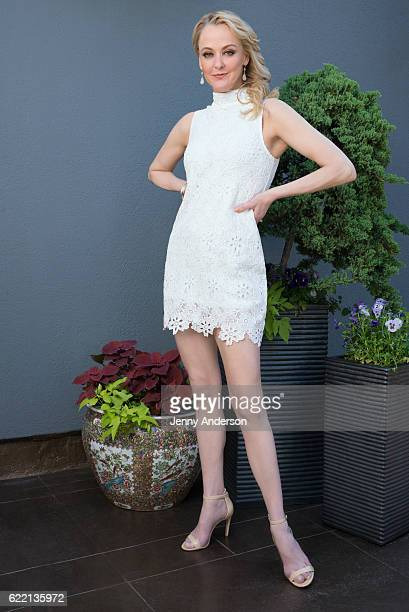 Broadway actress Angie Schworer is photographed for New York Lifestyles Magazine at The Peninsula Hotel on June 7 2016 in New York City