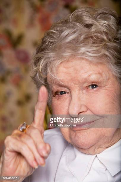 Broadway actress Elaine Stritch is photographed for Boston Globe on February 18 2014 in New York City PUBLISHED IMAGE