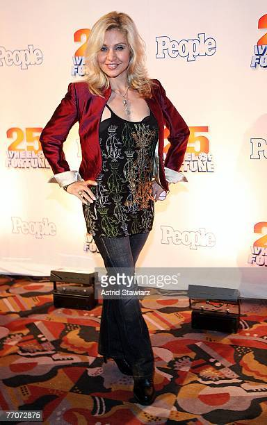 Broadway actress Oref attends the 25th anniversary celebration of the television game show Wheel Of Fortune at Radio City Music Hall September 27...