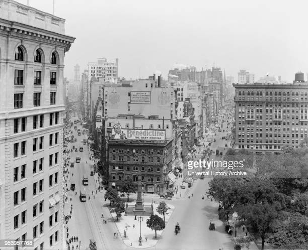 Broadway and Fifth Avenue Looking North at Madison Square, New York City, New York, USA, Detroit Publishing Company, early 1910's.