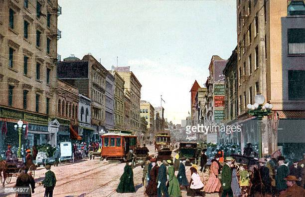 Broadway Corner fourth in Los Angeles California c 1900 1910