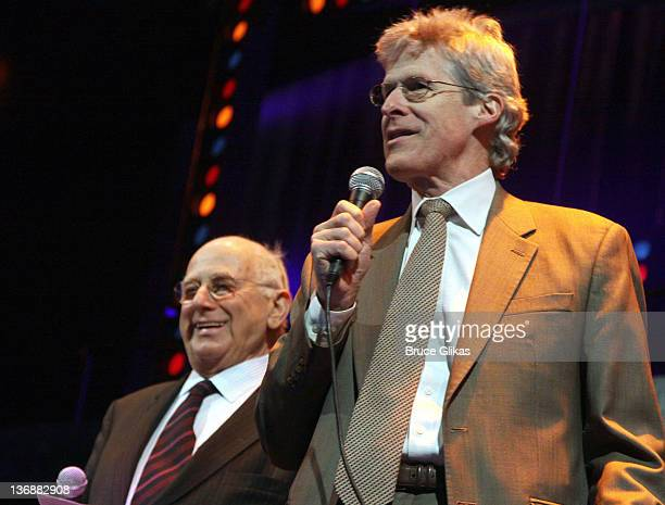 Broadway League Chairman Paul Libin and Chairman of the American Theatre Wing Ted Chapin at a special performance of Memphis for Inspire Change...