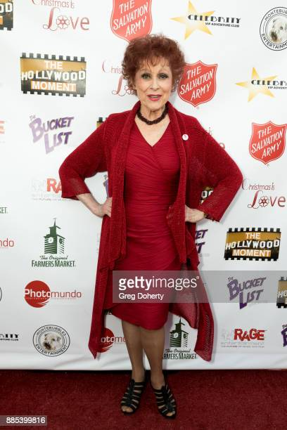 Broadway Legend Carol Lawrence attends The Salvation Army Celebrity Kettle Kickoff Red Kettle Hollywood at the Original Farmers Market on November 30...