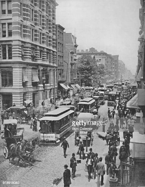 'Broadway New York' 19th century From The Colonial Portfolio [The Werner Company London]Artist Unknown