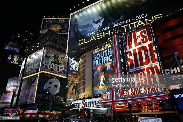 broadway new york city - broadway manhattan stock photos and pictures