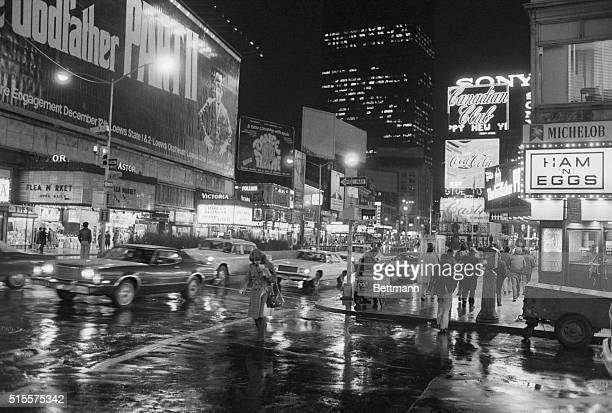 Broadway night scene after the rain Photograph 1/7/75