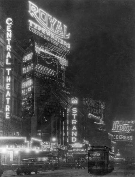 Advertisements and signs for the Central and the Mark...
