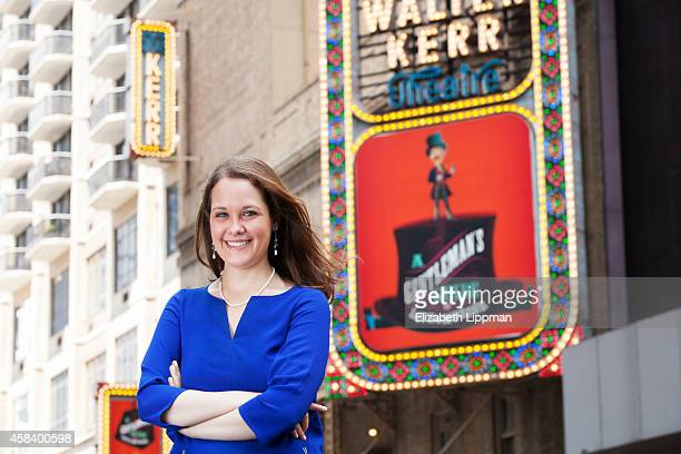 Broadway producer Megan Savage is photographed for Boston Globe on July 2, 2014 in New York City. PUBLISHED IMAGE.