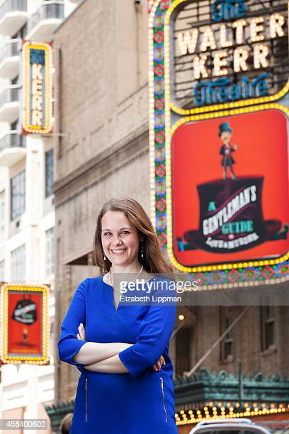 Broadway producer Megan Savage is photographed for Boston Globe on July 2, 2014 in New York City.