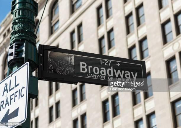 Broadway Street Name Signs Manhattan New York City USA