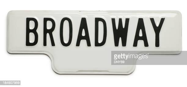 Broadway Street の標識