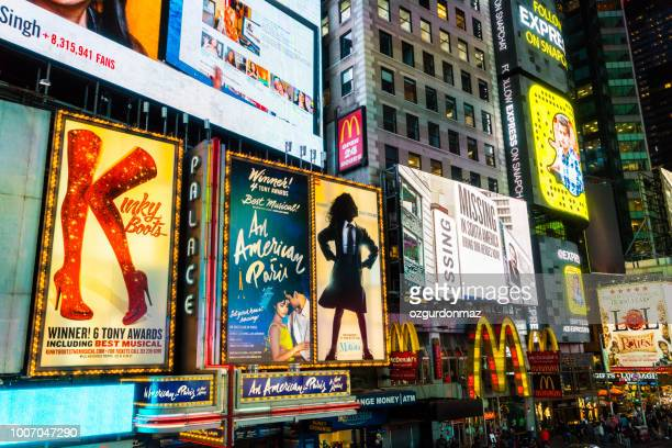 broadway theaters - broadway stock pictures, royalty-free photos & images