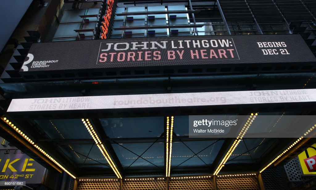 """John Lithgow: Stories by Heart"" Marquee Unveiling"