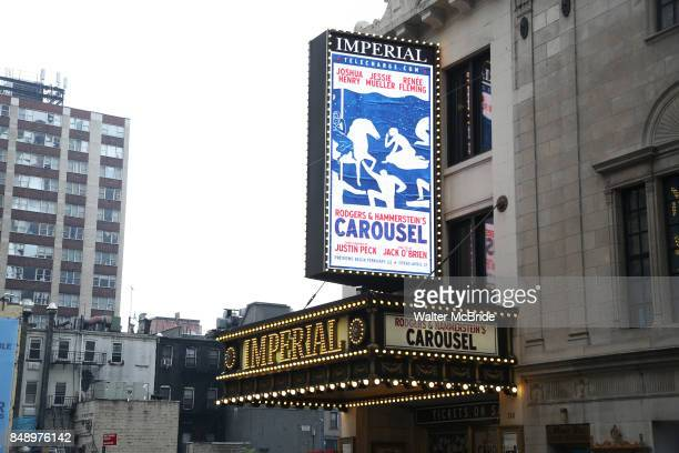 Broadway Theatre Marquee unveiling for the Richard Rodgers and Oscar Hammerstein's timeless musical 'Carousel' starring Joshua Henry Jessie Mueller...