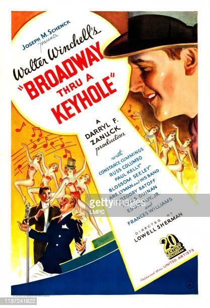 Broadway Thru A Keyhole poster US poster art top Walter Winchell bottom from left Abe Lyman Russ Columbo 1933