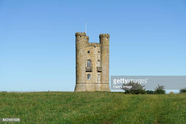 broadway tower, broadway, worcestershire, uk - chateau stock pictures, royalty-free photos & images