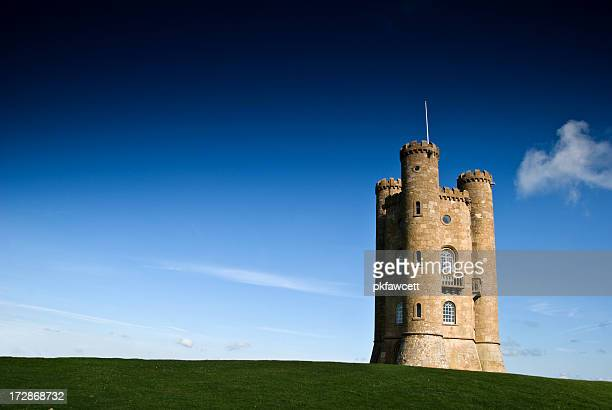 broadway tower horizontal - castle stock photos and pictures