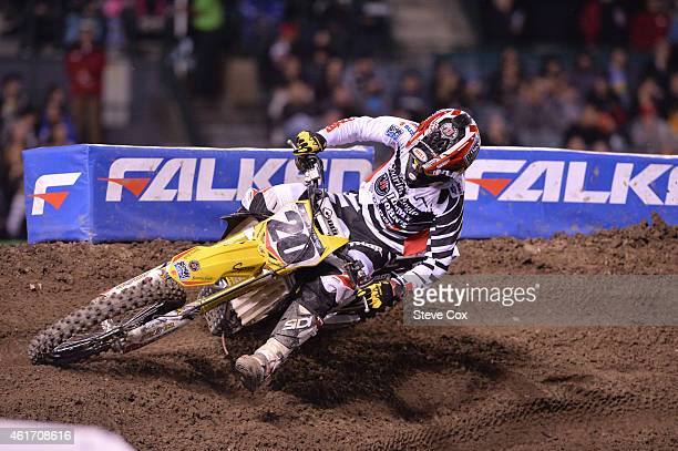 Broc Tickle finished a solid fifth place at the Monster Energy/AMA Supercross at Angel Stadium on January 17 2015 in Anaheim California