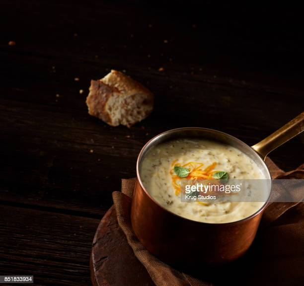 Broccoli Cheddar Soup in a Pot