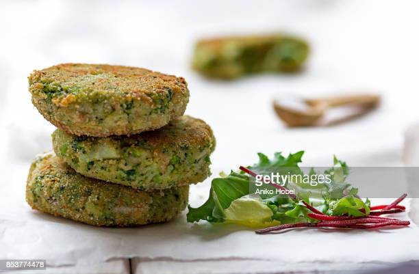 broccoli fritters - fritter stock photos and pictures