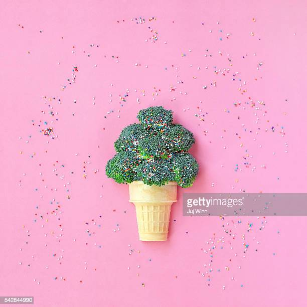 Broccoli Ice Cream Cone