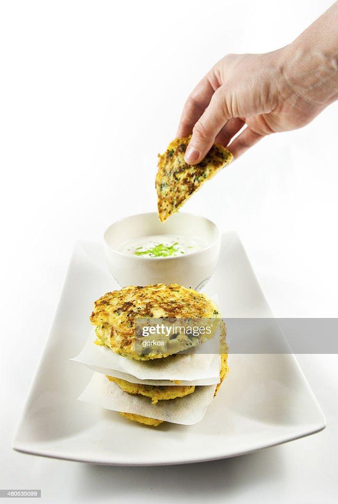 Broccoli pancake : Stock Photo