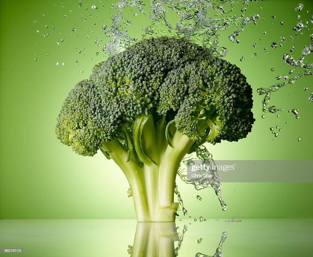 Broccoli Splash : Stock Photo