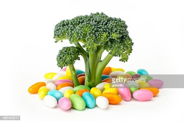 Broccoli stalks resembling trees
