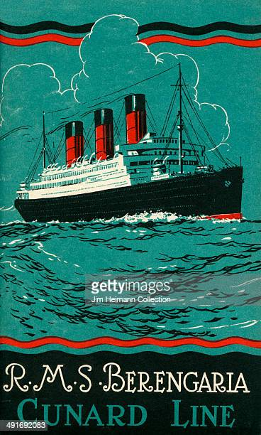 A brochure for RMS Berengaria by Cunard Line from 1925