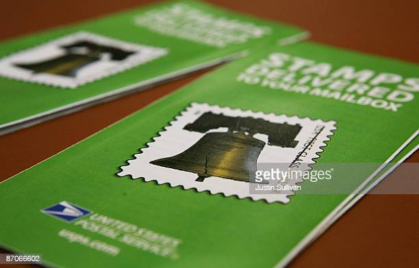 A brochure with information on the forever stamp is displayed on a counter at a post office May 11 2009 in San Francisco California The price of a...
