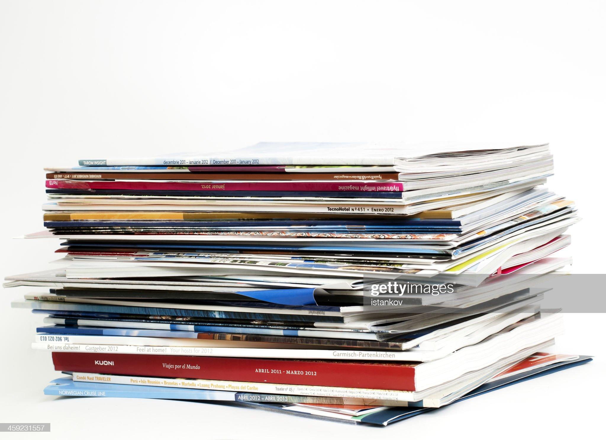 Brochures of major tour operators for 2012 : Stock Photo